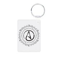Atheist Circle Logo Keychains
