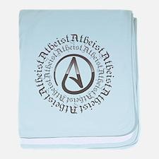 Atheist Circle Logo baby blanket
