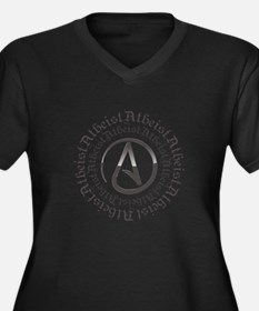Atheist Circle Logo Women's Plus Size V-Neck Dark