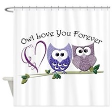 Owl Love You Forever Shower Curtain