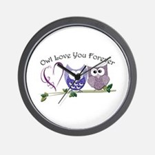 Owl Love You Forever Wall Clock