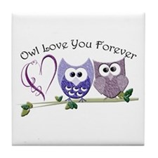 Owl Love You Forever Tile Coaster