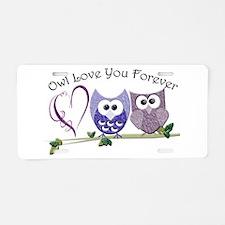 Owl Love You Forever Aluminum License Plate