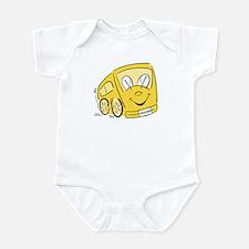 TEACHER'S YELLOW BUS Infant Creeper
