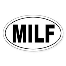 MILF Oval Decal