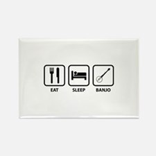 Eat Sleep Banjo Rectangle Magnet