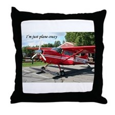 I'm just plane crazy: ski plane Throw Pillow