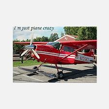 I'm just plane crazy: ski plane Rectangle Magnet