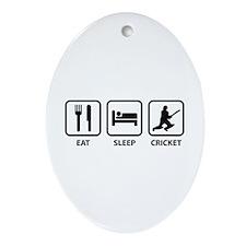 Eat Sleep Cricket Ornament (Oval)