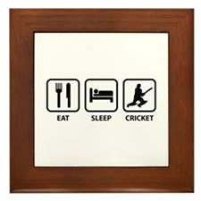 Eat Sleep Cricket Framed Tile