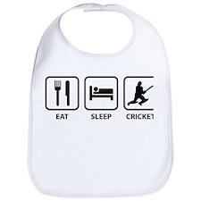Eat Sleep Cricket Bib
