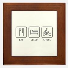Eat Sleep Cross Framed Tile