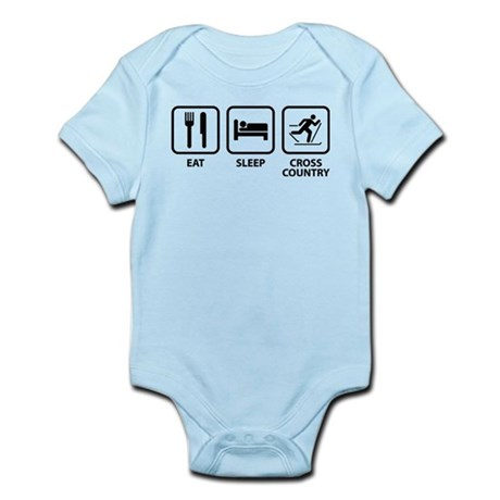 Eat Sleep Cross Country Infant Bodysuit