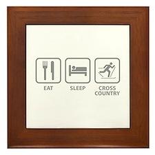 Eat Sleep Cross Country Framed Tile