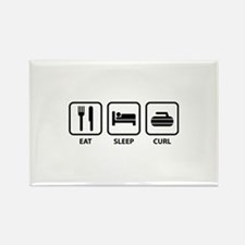 Eat Sleep Curl Rectangle Magnet