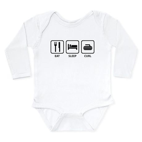 Eat Sleep Curl Long Sleeve Infant Bodysuit