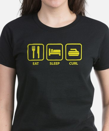 Eat Sleep Curl Women's Dark T-Shirt