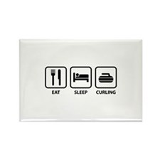 Eat Sleep Curling Rectangle Magnet (100 pack)
