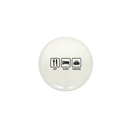 Eat Sleep Curling Mini Button (10 pack)