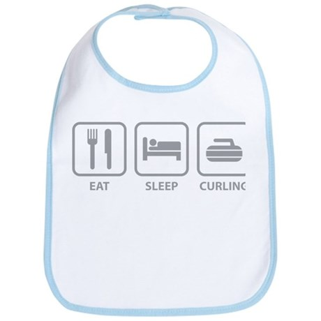 Eat Sleep Curling Bib