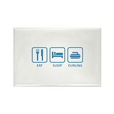 Eat Sleep Curling Rectangle Magnet