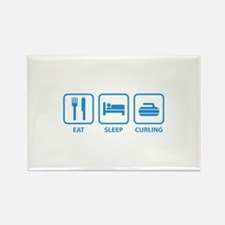 Eat Sleep Curling Rectangle Magnet