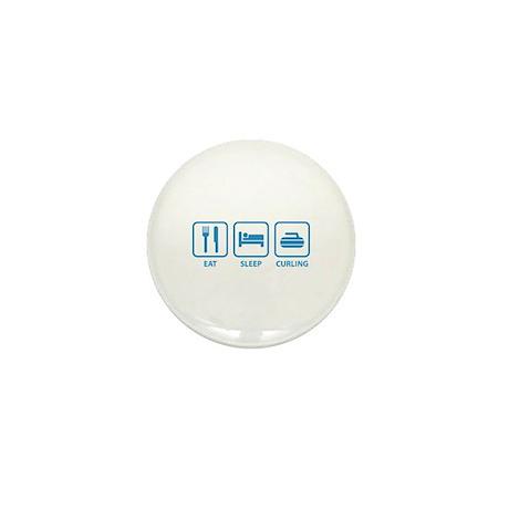 Eat Sleep Curling Mini Button (100 pack)