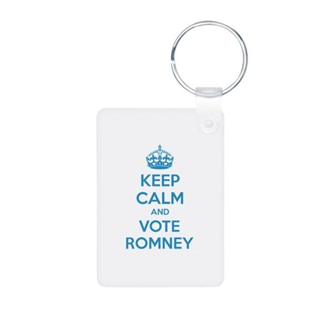Keep calm and vote Romney Aluminum Photo Keychain