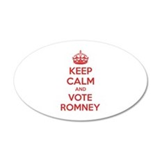 Keep calm and vote Romney 22x14 Oval Wall Peel