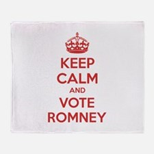 Keep calm and vote Romney Throw Blanket