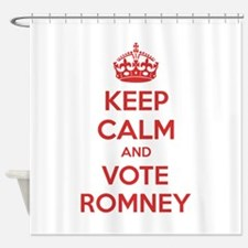 Keep calm and vote Romney Shower Curtain
