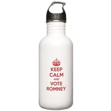 Keep calm and vote Romney Water Bottle
