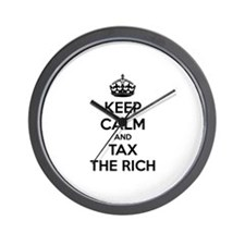 Keep calm and tax the rich Wall Clock