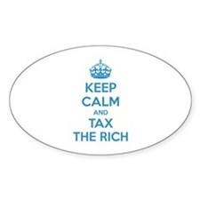 Keep calm and tax the rich Decal