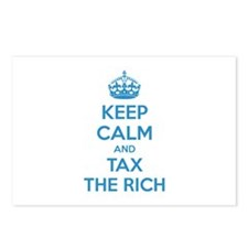 Keep calm and tax the rich Postcards (Package of 8