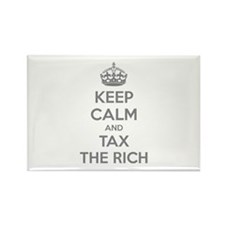Keep calm and tax the rich Rectangle Magnet