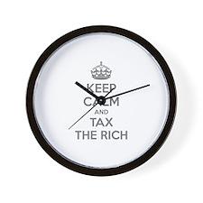 Keep calm and tax the rich Wall Clock