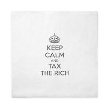 Keep calm and tax the rich Queen Duvet