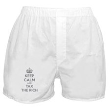Keep calm and tax the rich Boxer Shorts