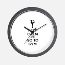Keep calm and tax go to gym Wall Clock