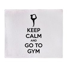 Keep calm and tax go to gym Throw Blanket