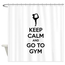 Keep calm and tax go to gym Shower Curtain