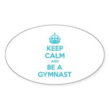 Keep calm and be a gymnast Decal