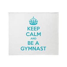 Keep calm and be a gymnast Throw Blanket