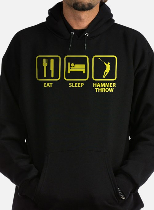 Eat Sleep Hammer Throw Hoodie (dark)