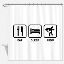 Eat Sleep Judo Shower Curtain