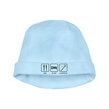 Eat Sleep Lacrosse baby hat