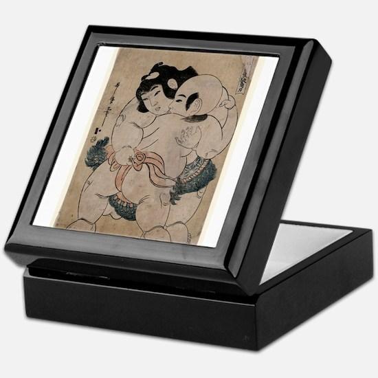 A charming sumo match - Utamaro II - 1810 Keepsake