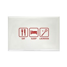 Eat Sleep Lacrosse Rectangle Magnet