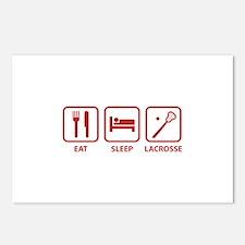 Eat Sleep Lacrosse Postcards (Package of 8)